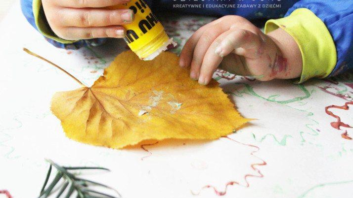 Jesienny kolaż dla najmłodszych