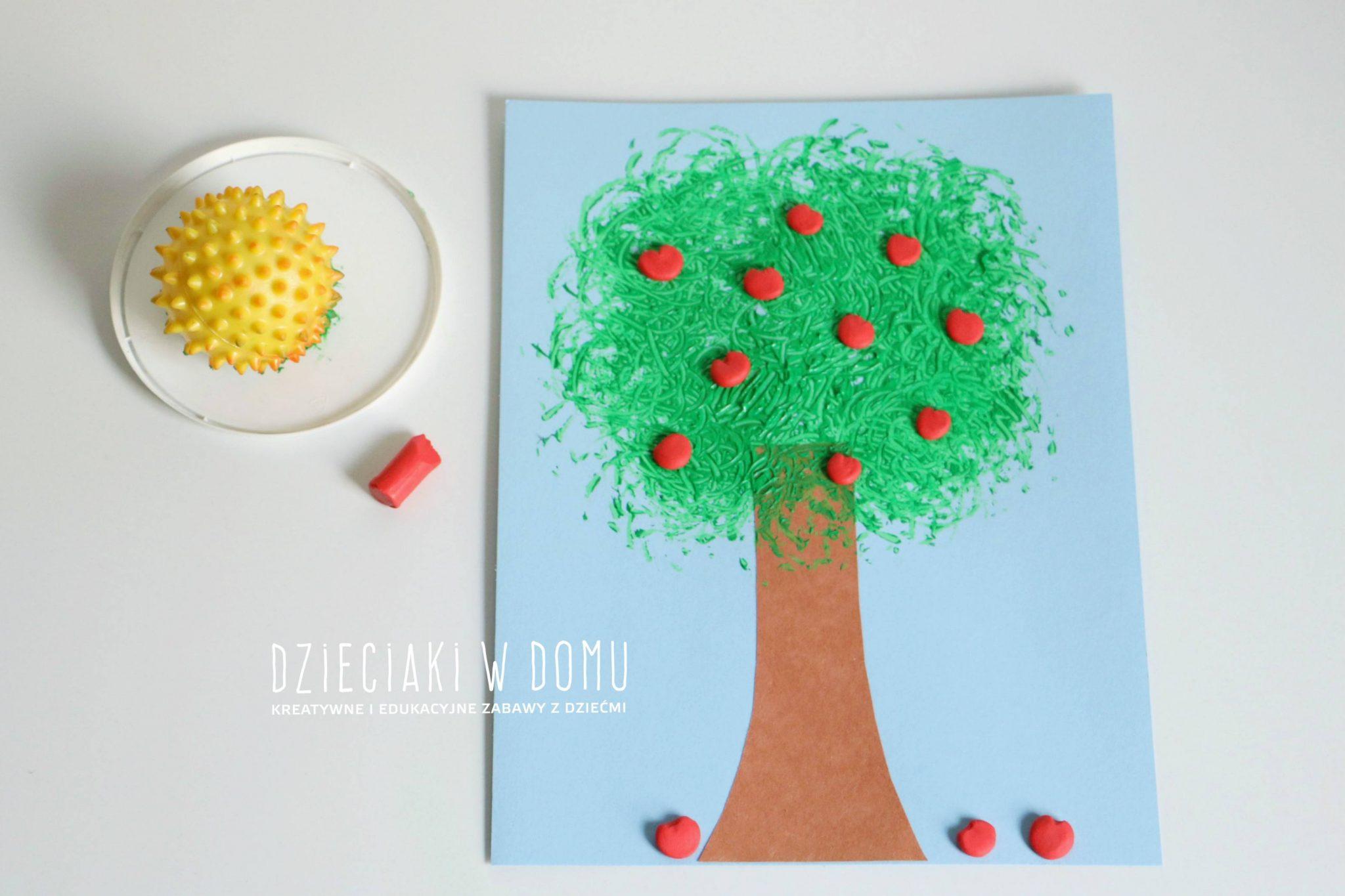 jabłoń - praca plastyczna dla dzieci