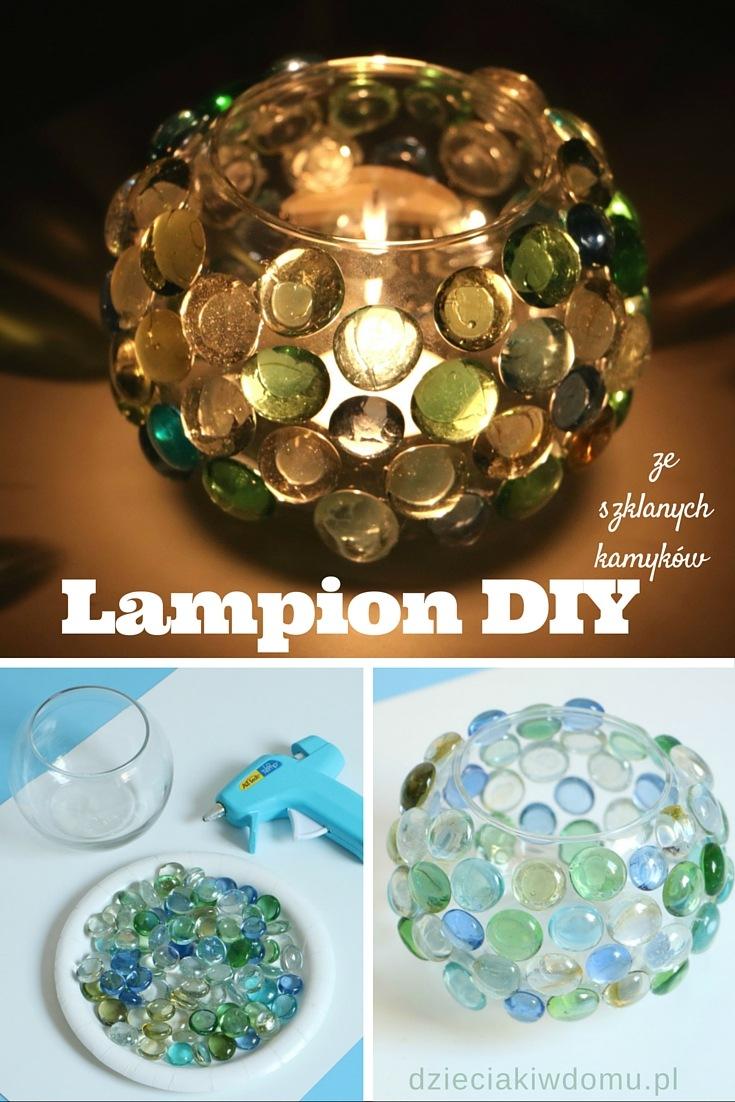 kreatywny lampion z kamyków DIY
