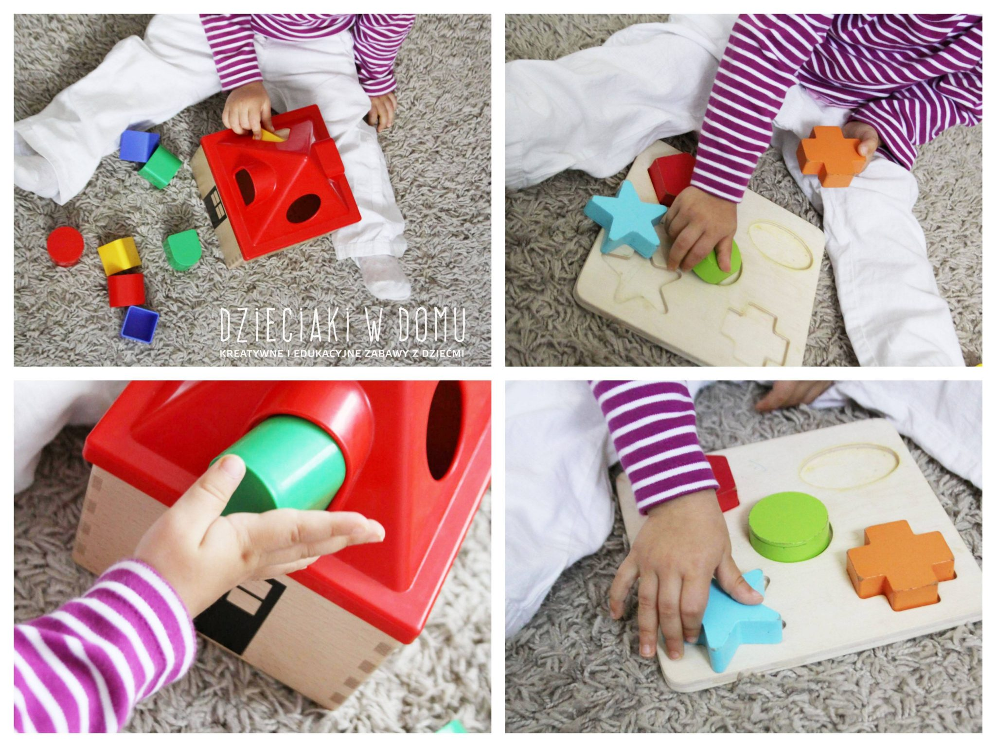 kształty - kreatywne zabawy dla dwulatka