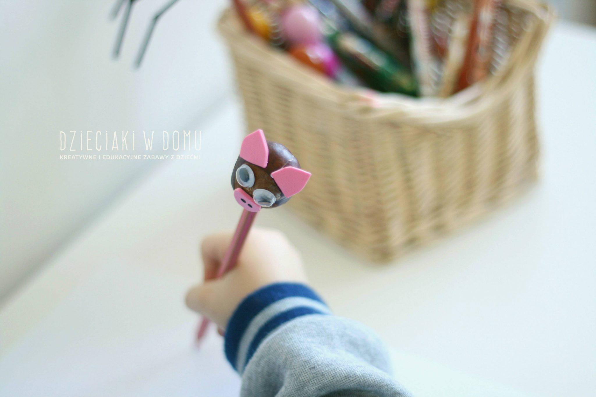 Kasztanowe zwierzątka - kukiełki - praca techniczna dla dzieci