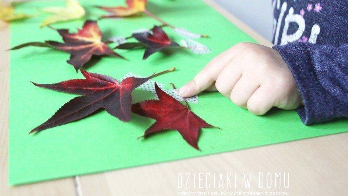 Jesienna kompozycja z liści – praca plastyczna dla najmłodszych dzieci