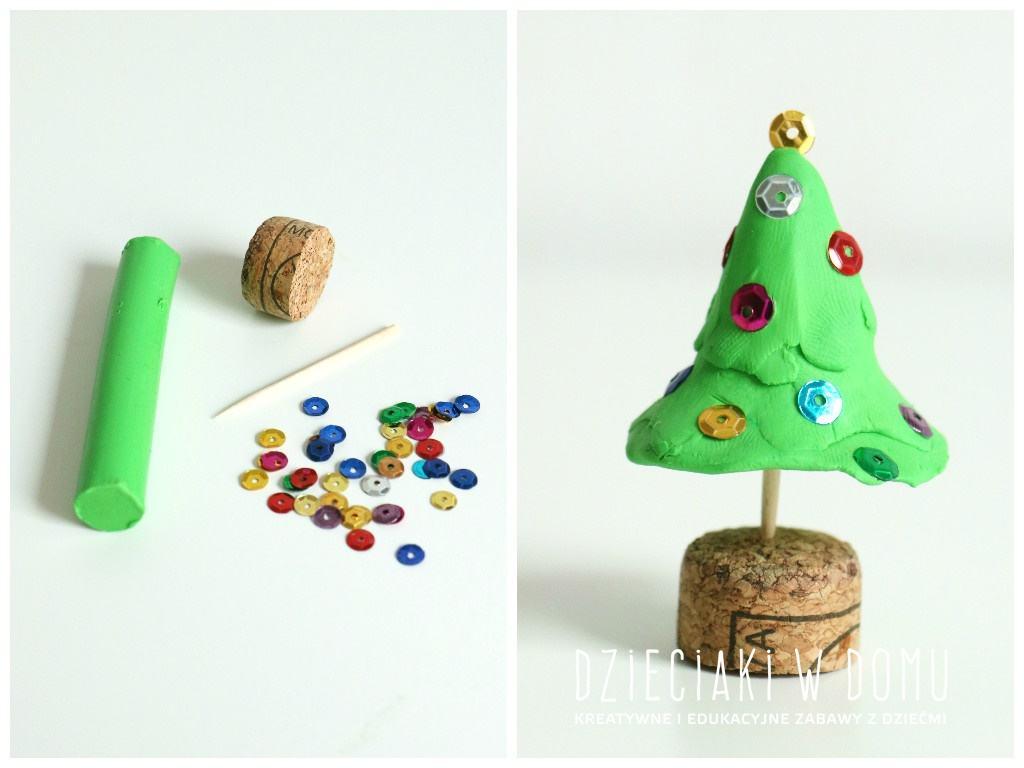 świąteczne prace kreatywne w wersji mini - choineczka