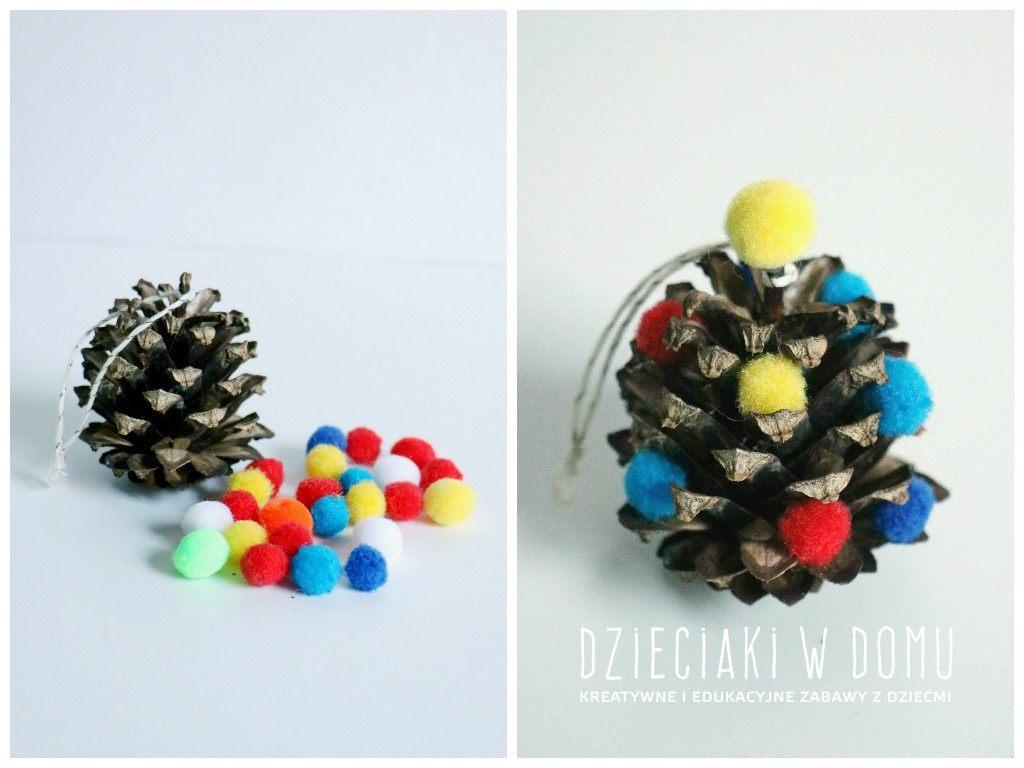 świąteczne prace kreatywne w wersji mini - choineczka - ozdoba choinkowa