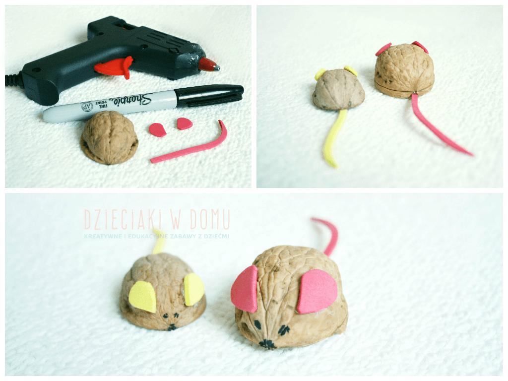 świąteczne prace kreatywne w wersji mini - myszka