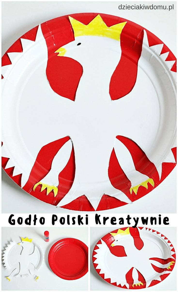 godlo polski kreatywnie praca plastyczna dla dzieci