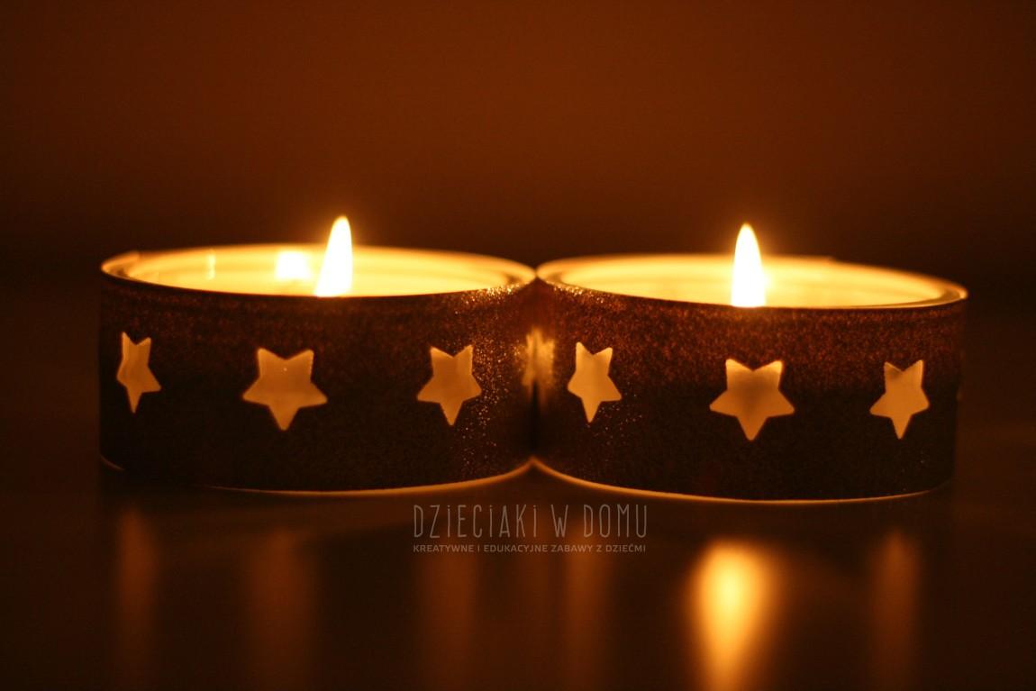 Świeczniki na Boże Narodzenie DIY