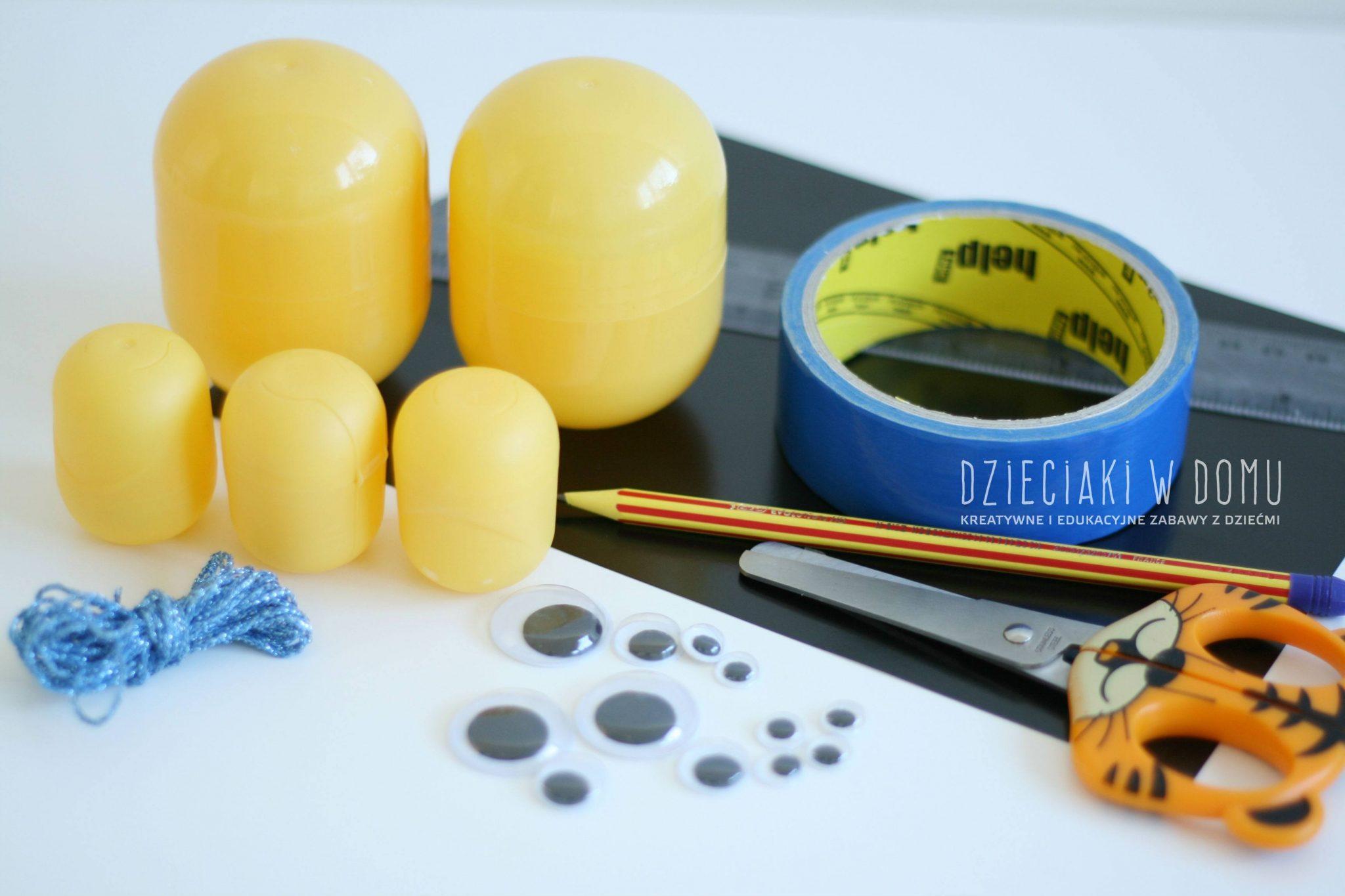minionki - ozdoby na choinkę DIY