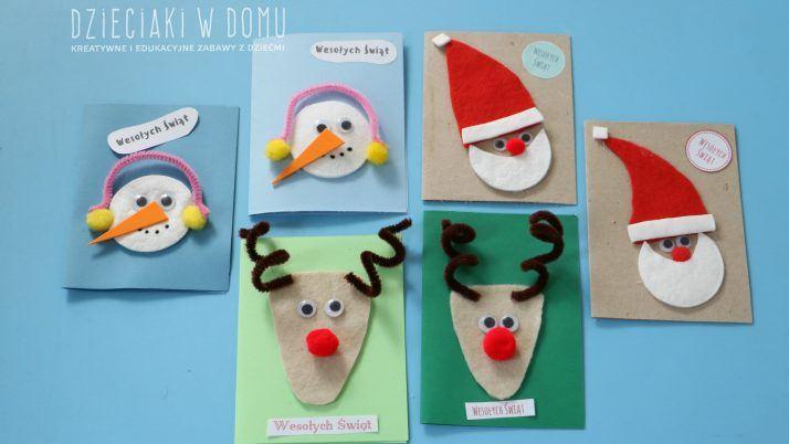 Pomysły na proste kartki świąteczne DIY