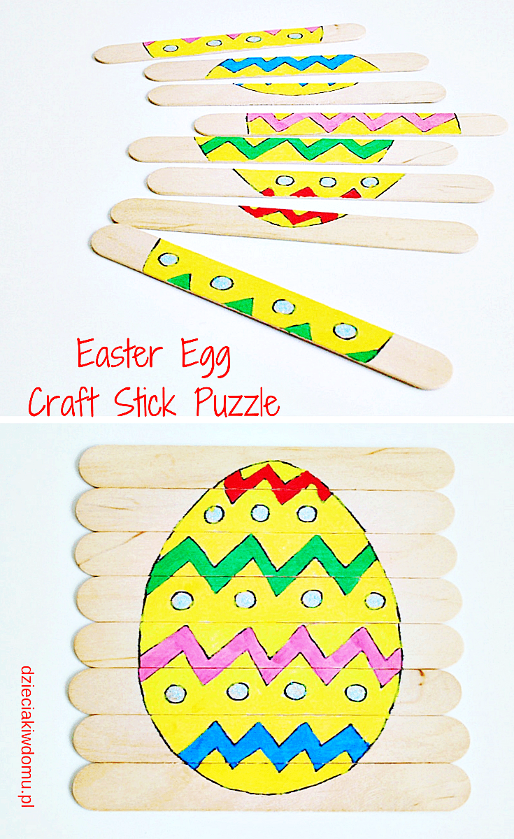 easter egg craft stick puzzle