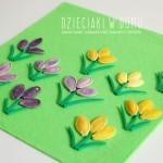 Krokusy z pestek dyni – wiosenna praca plastyczna