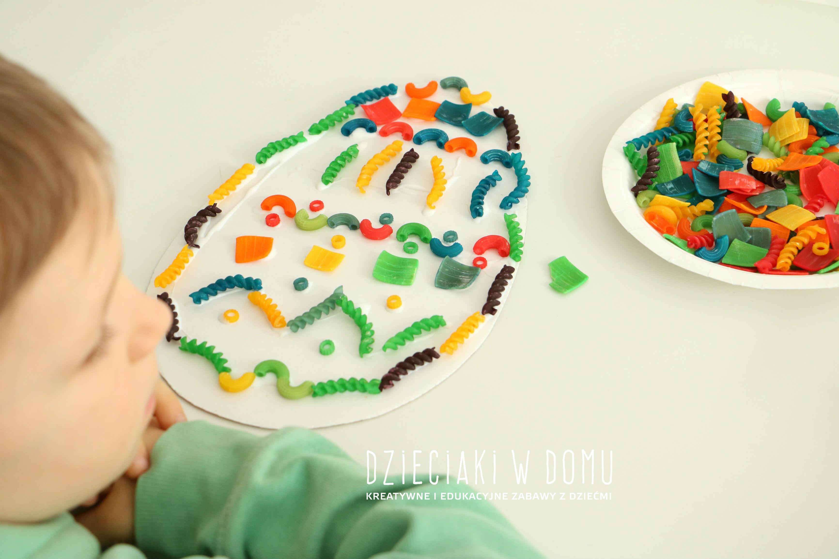 pisanki wyklejanki - pomysł na pracę plastyczną dla dzieci