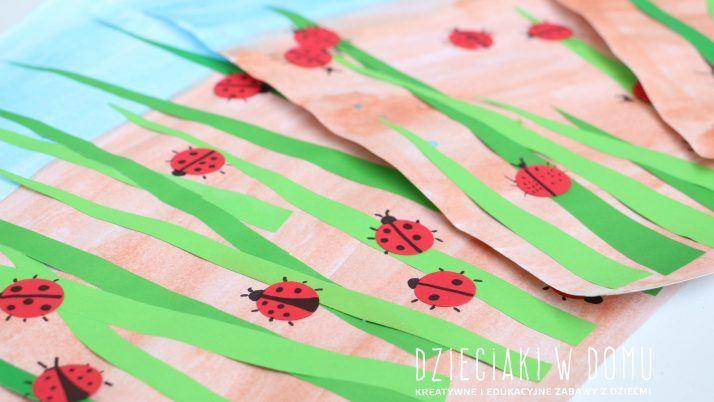 Biedronki – wiosenna praca plastyczna