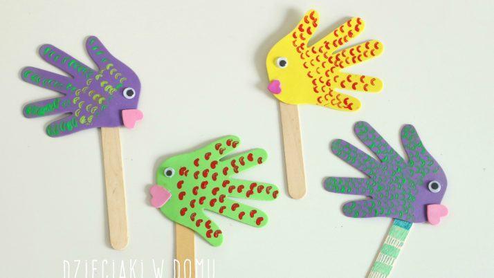 Rybki – kukiełki z piankowych łapek