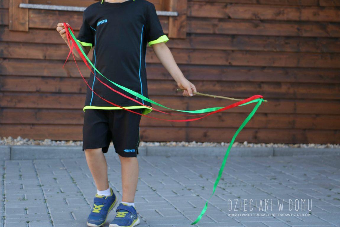 Wstążki do tańca DIY – dla chłopca i dziewczynki