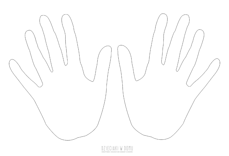 ręka szablon