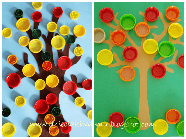 jesienne drzewko - praca plastyczna