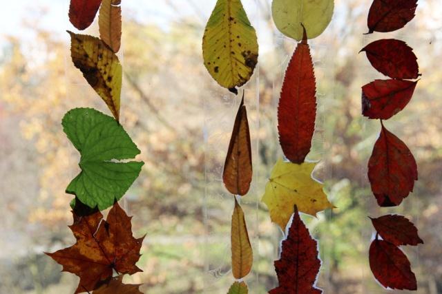 jesienne liście - prace plastyczne