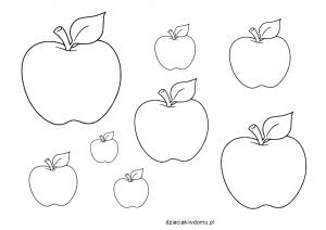 szablon jabłek