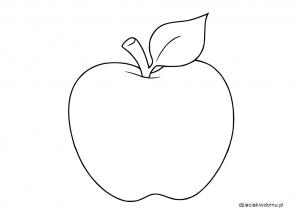 szablon jabłka