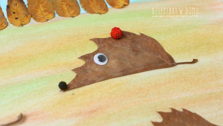 Myszki i jeże z jesiennych liści