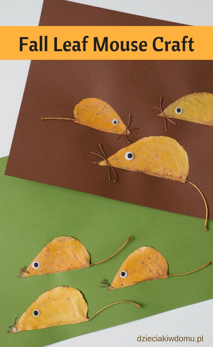 fall leaf mouse craft for kids