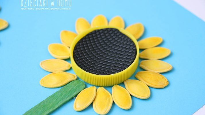 Słoneczniki z pestek dyni