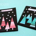 Pomysł na świąteczne kartki DIY do zrobienia razem  z dziećmi