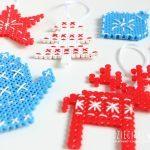 Ozdoby świąteczne z koralików do prasowania