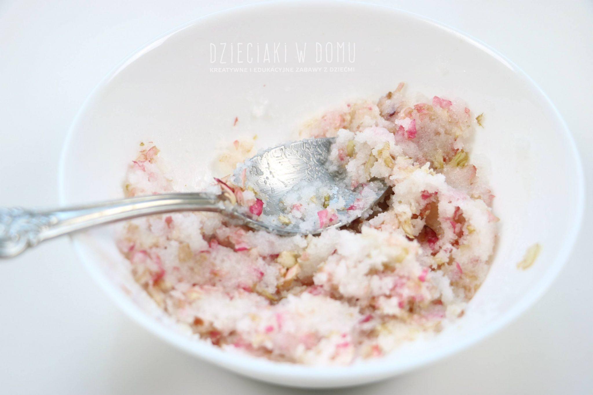 rozany peeling cukrowy diy