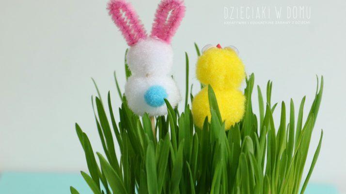 Zajączki i kurczaki – pomysł na dekoracje wiosenno wielkanocne
