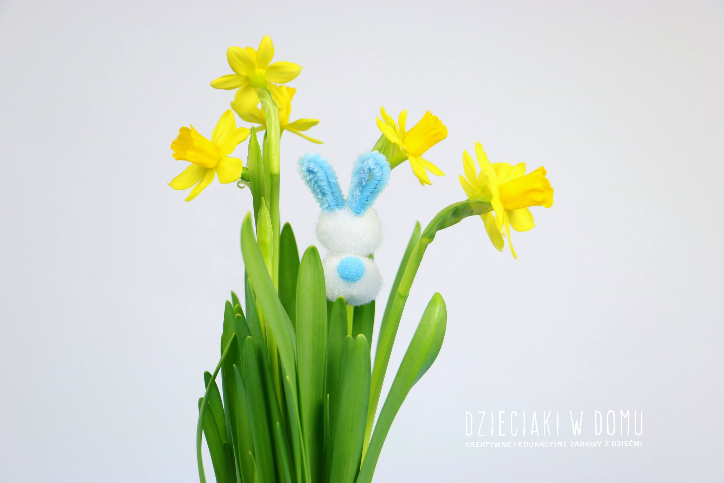 zajaczek i kurczak - dekoracja wielkanocna