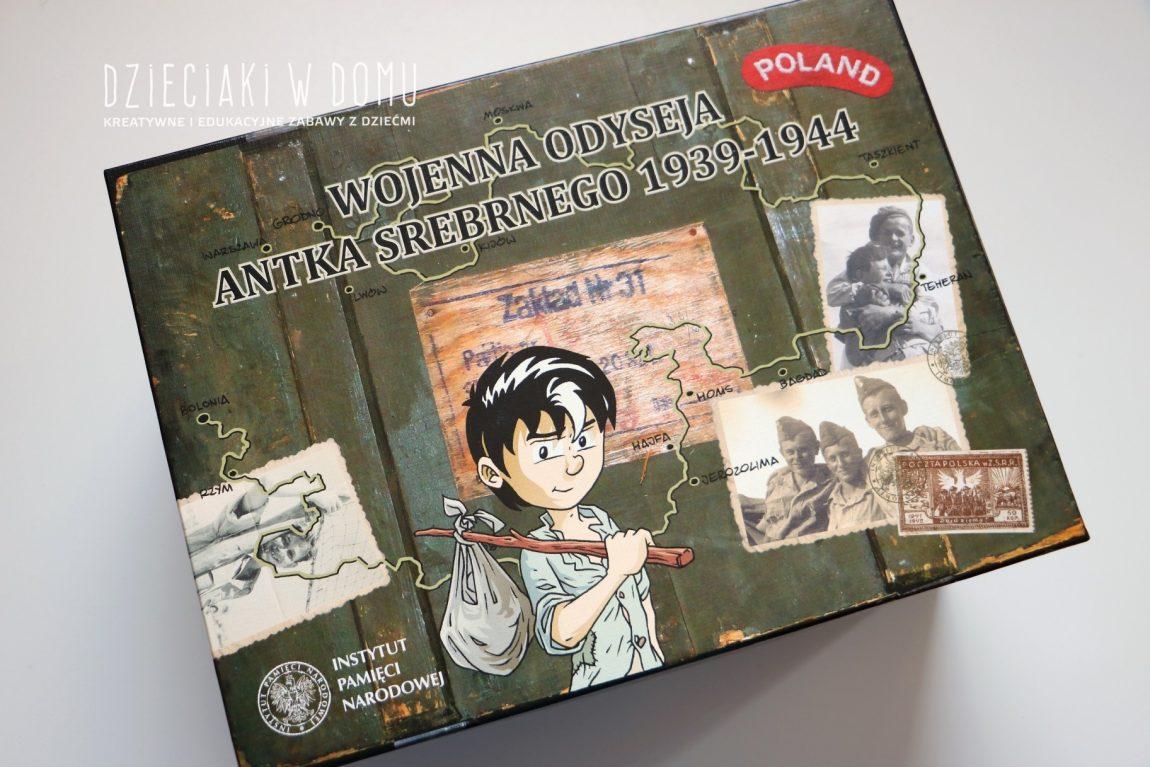 Wojenna odyseja Antka Srebrnego 1939 – 1944 – komiksy, puzzle i gra historyczna dla dzieci