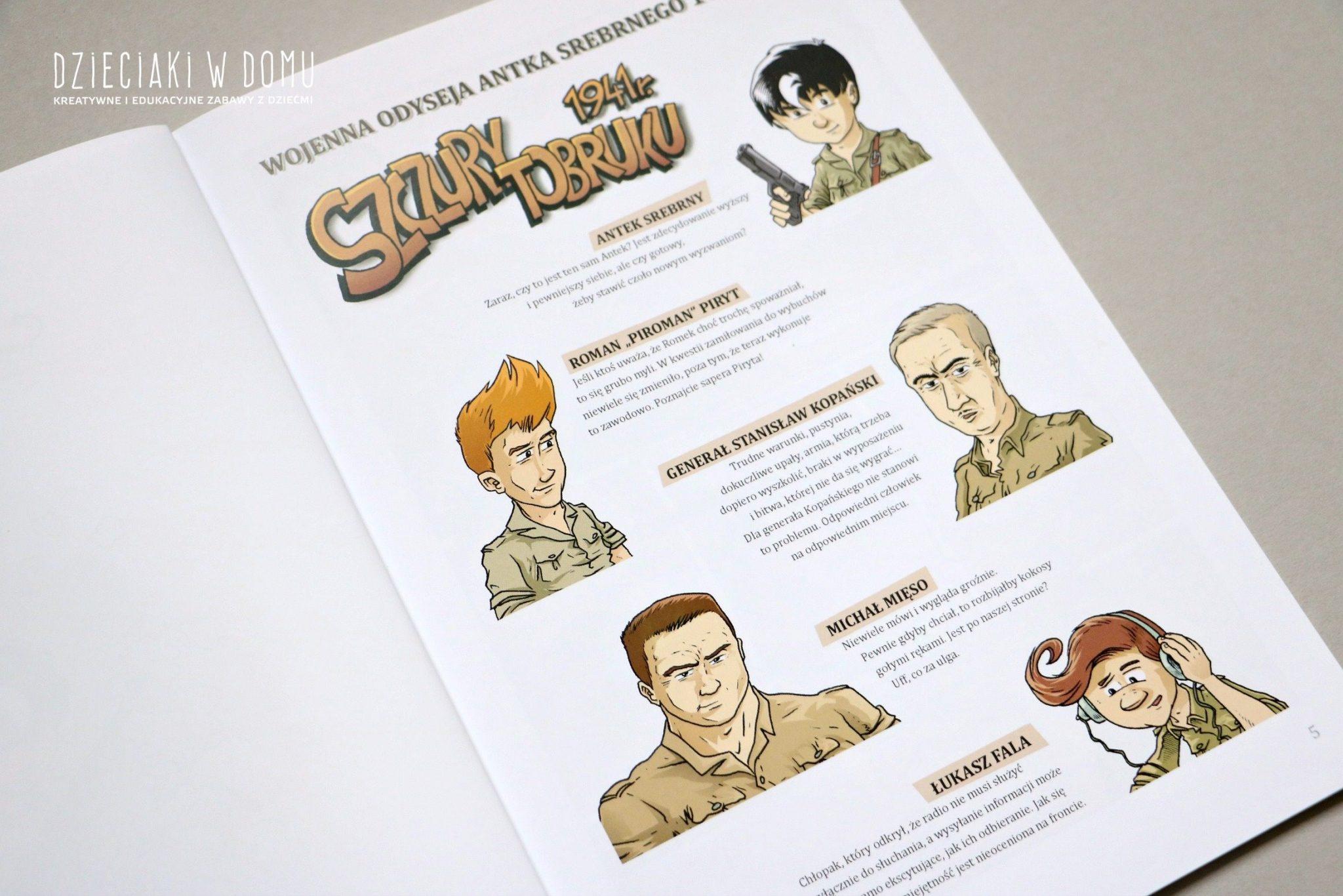 wojenna odyseja - komiks historyczny dla dzieci