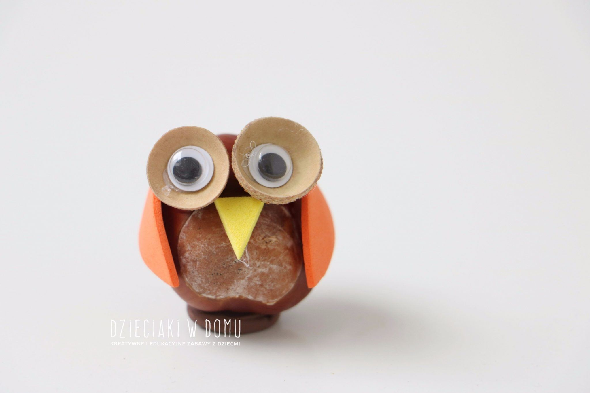 zwierzątka z kasztanów - sowa