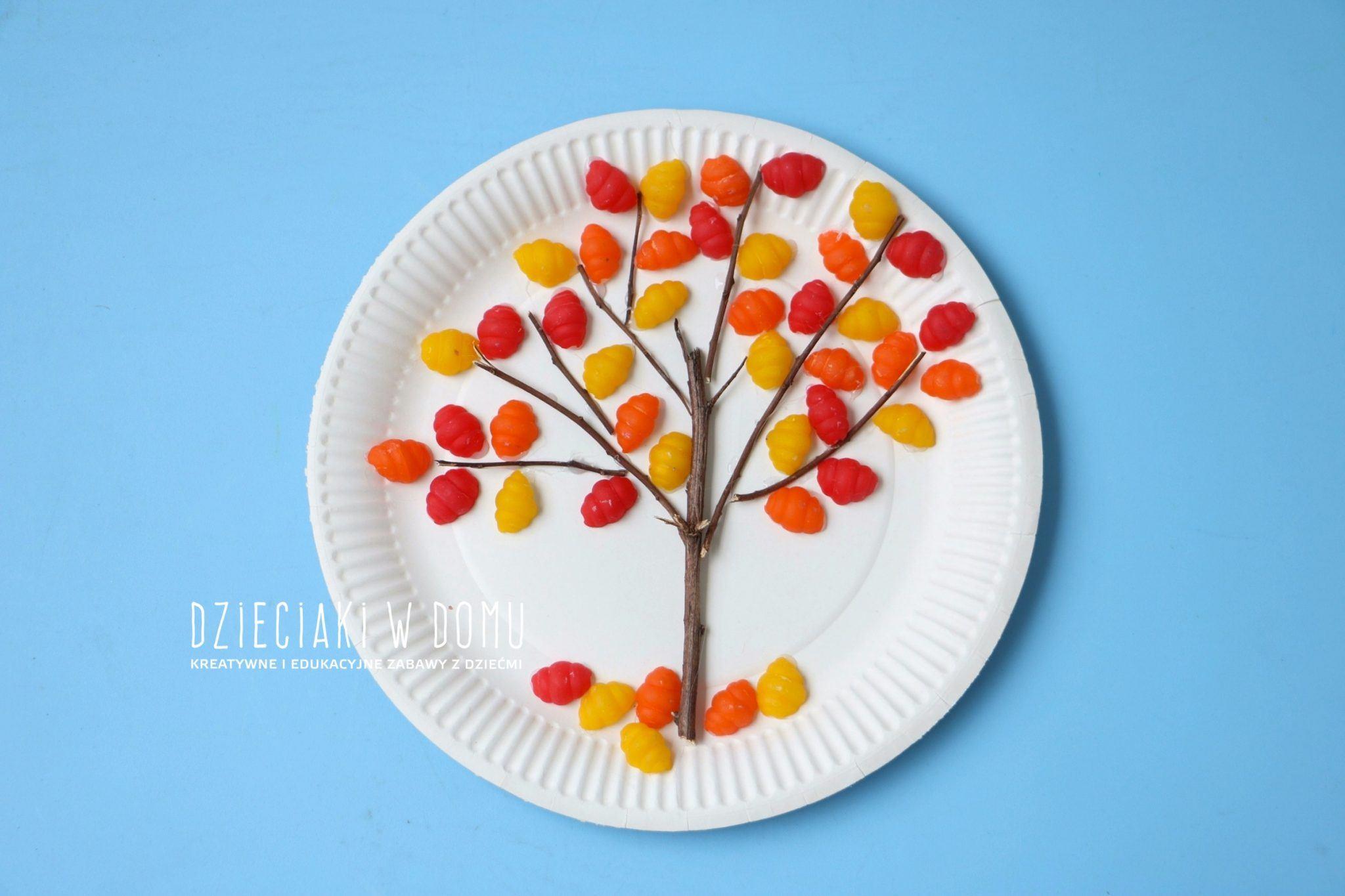 jesienne drzewko - praca plastyczna dla dzieci