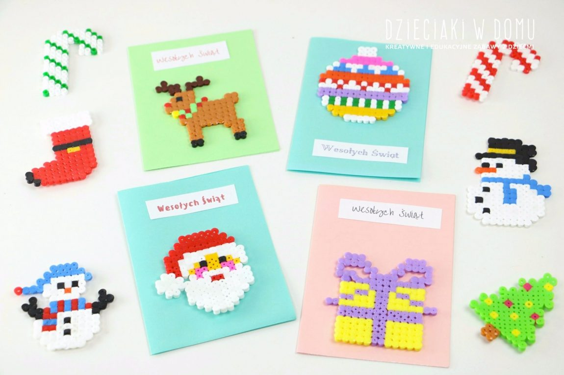 Pomysły na świąteczne ozdoby z koralików do prasowania Hama/Pyssla