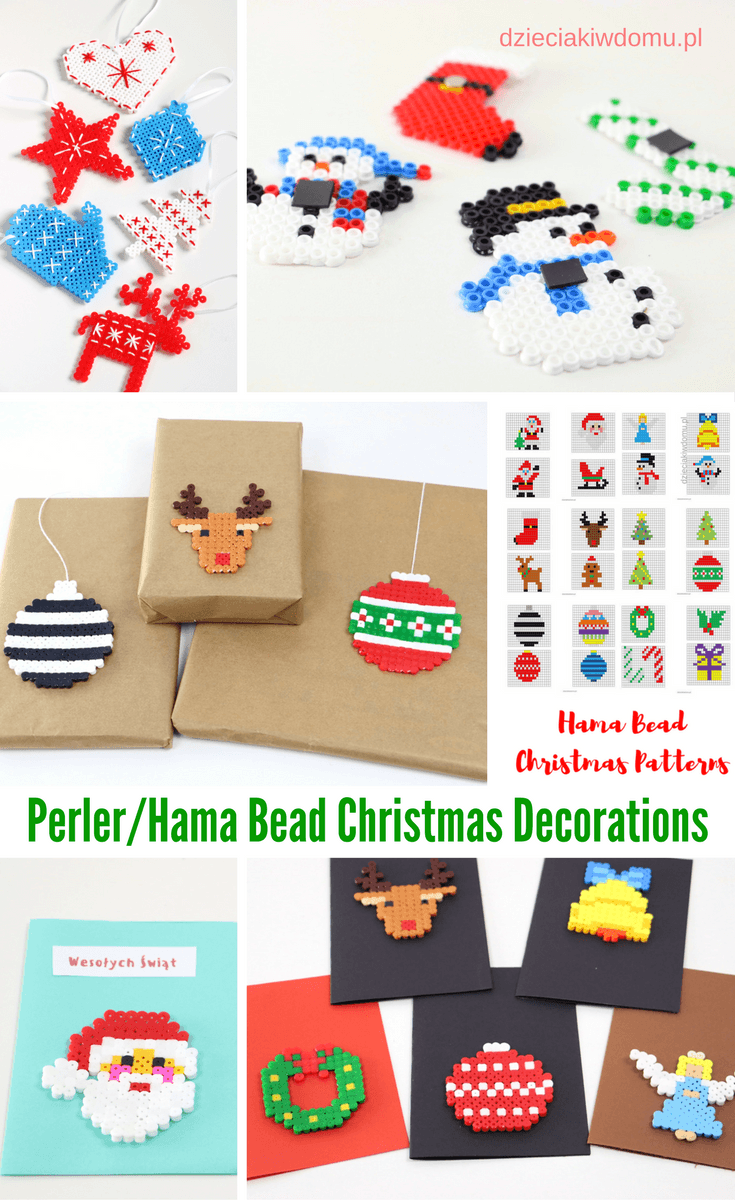 perler hama bead christmas decorations
