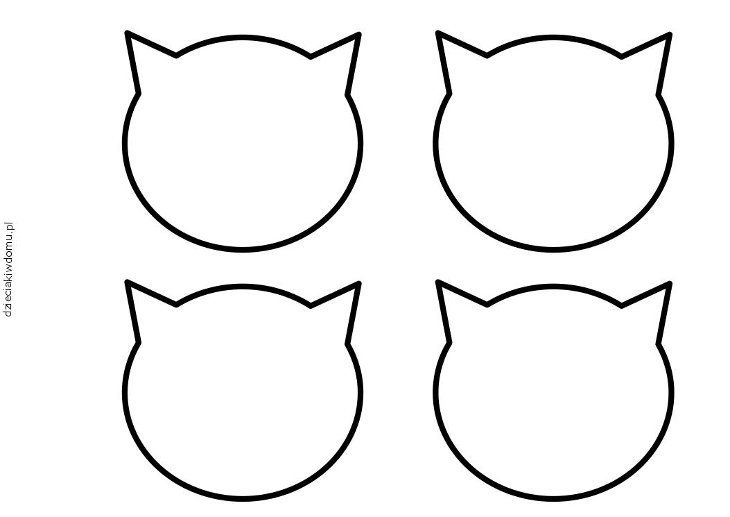 buzia kota szablon dzien kota