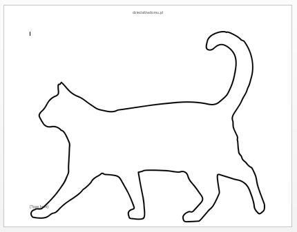szablon kota 3 dzien kota