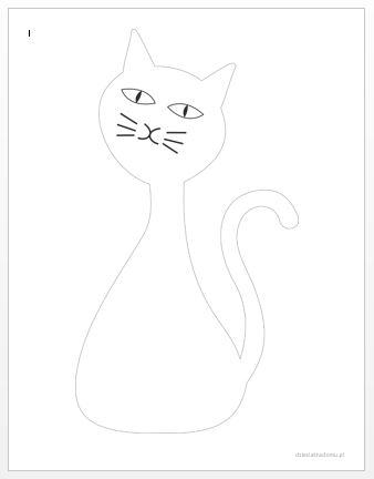 szablon kota 4 dzien kota
