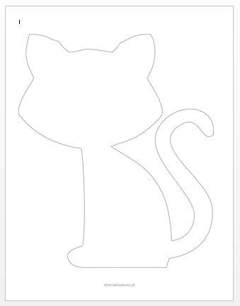 szablon kota 1 - dzien kota