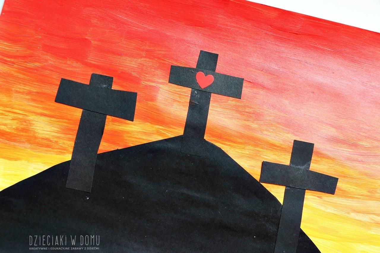 krzyż - wielkanocna praca plastyczna dla dzieci
