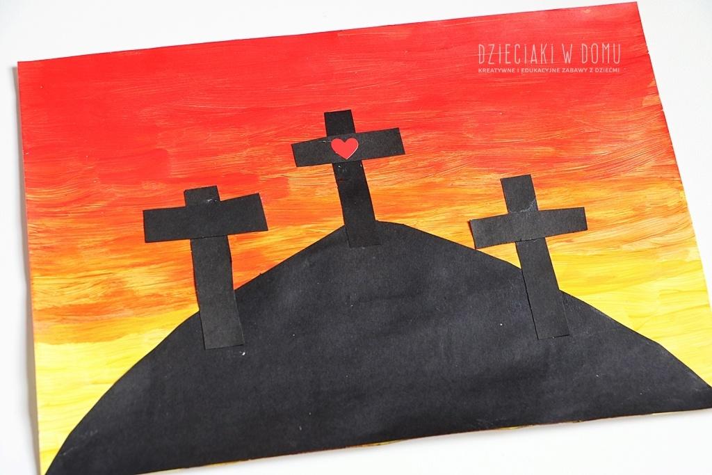 krzyż Golgoty - praca plastyczna dla dzieci