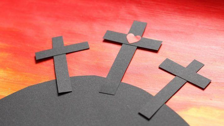 Krzyż Golgoty – wielkanocna praca plastyczna dla dzieci