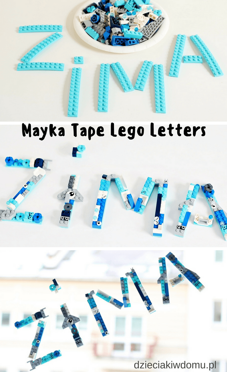 Mayka tape lego letters