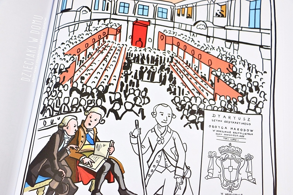 konstytucja 3 maja kolorowanka dla dzieci