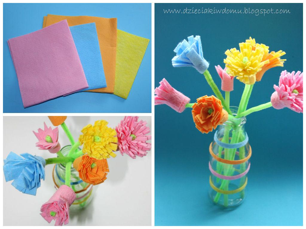 kwiatki diy - prezent na dzień matki