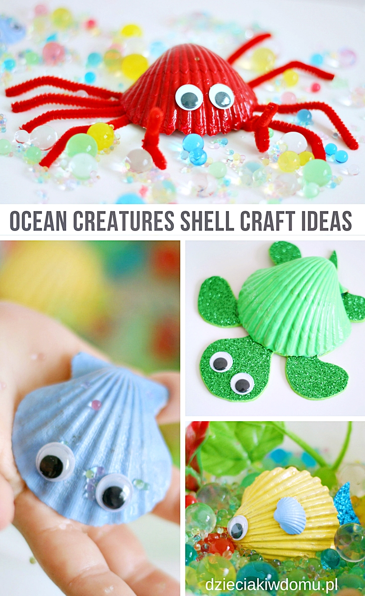 ocean cratures shell craft ideas
