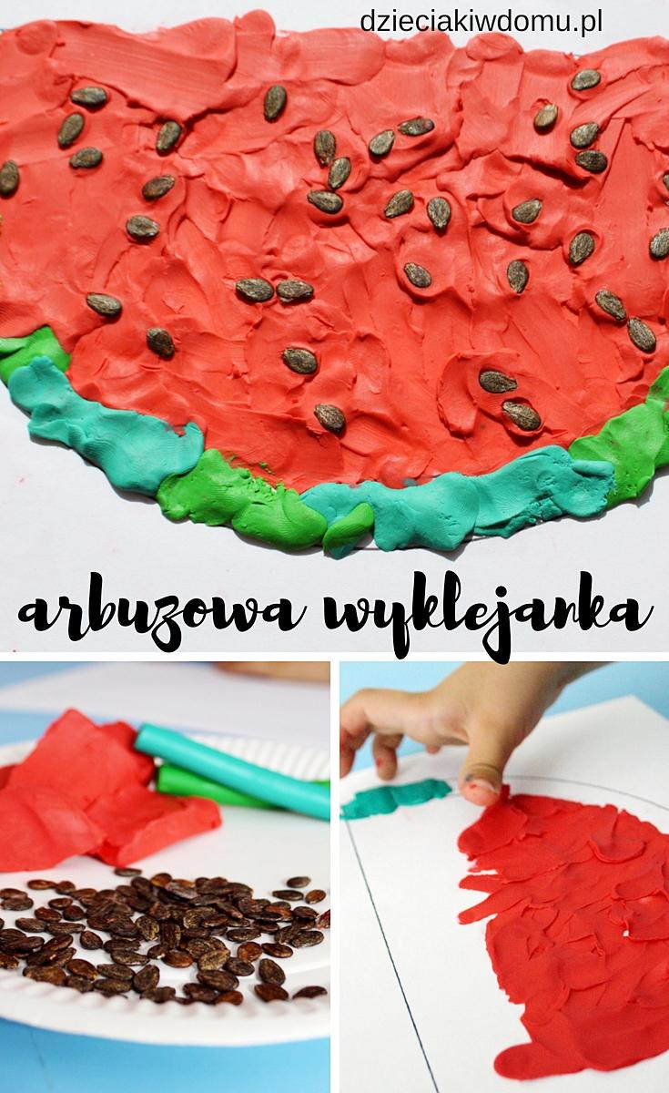 arbuzowa wyklejanka - zabawa plastyczna dla dzieci